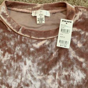 Tilly's Tops - Crushed Velvet Tee Shirt